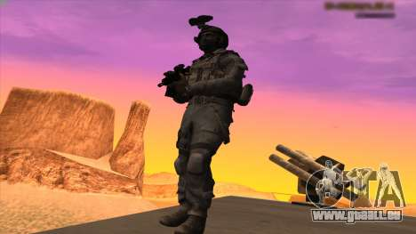 Sgt Keegan P.Russ из Call Of Duty: Geister für GTA San Andreas fünften Screenshot