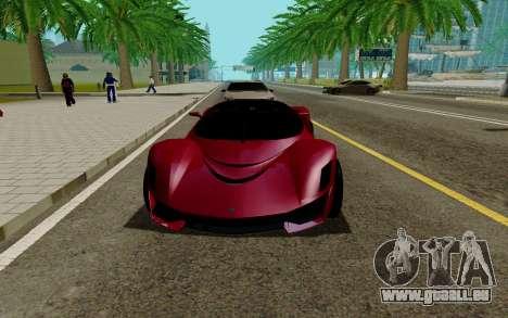 GTA 5 Grotti Turismo für GTA San Andreas linke Ansicht