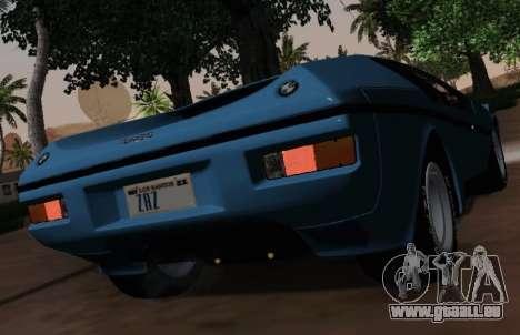 BMW M1 Turbo 1972 pour GTA San Andreas vue intérieure