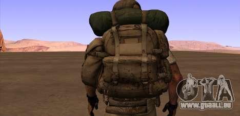 Рюкзак из MOH Warfighter pour GTA San Andreas quatrième écran