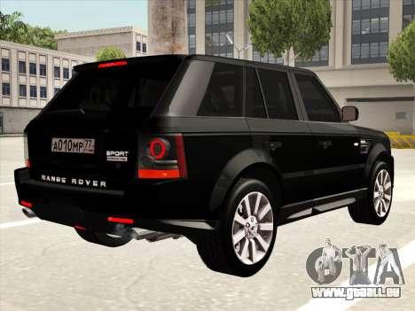 Range Rover Sport für GTA San Andreas Seitenansicht