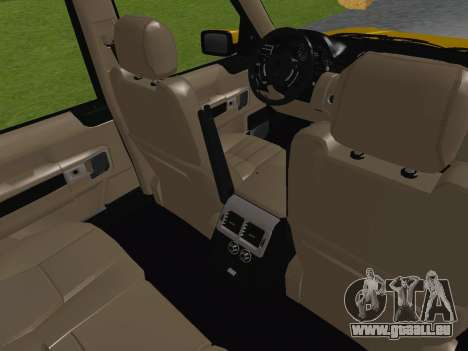 Range Rover Supercharged Series III pour GTA San Andreas vue de dessus