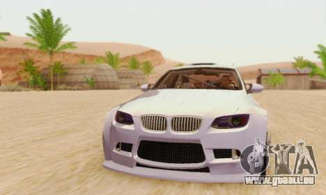 BMW M3 E92 SHD Tuning pour GTA San Andreas laissé vue