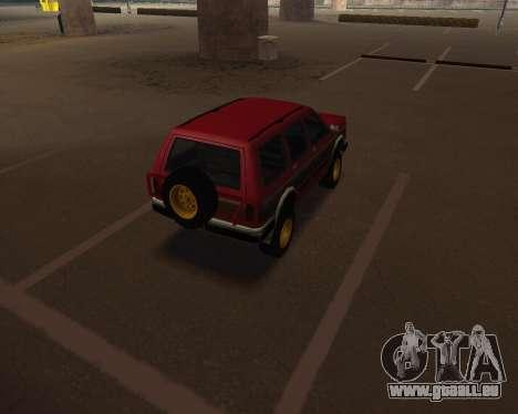 Landstalker V2 pour GTA San Andreas sur la vue arrière gauche