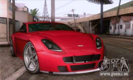 GTA V Rapid GT pour GTA San Andreas sur la vue arrière gauche
