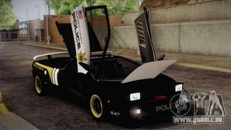 Lamborghini Diablo SV NFS HP Police Car für GTA San Andreas Innenansicht