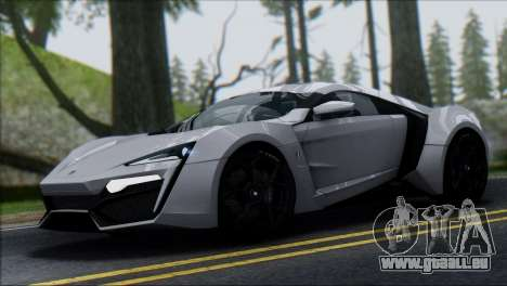 W Motors Lykan Hypersport 2013 für GTA San Andreas