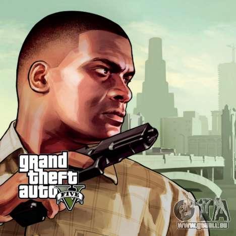 Démarrage de l'écran de GTA V pour GTA San Andreas deuxième écran