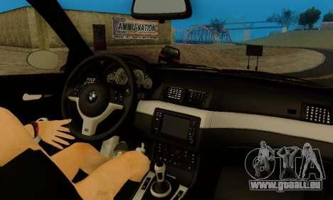 BMW M3 E46 für GTA San Andreas Unteransicht