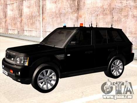 Range Rover Sport für GTA San Andreas zurück linke Ansicht