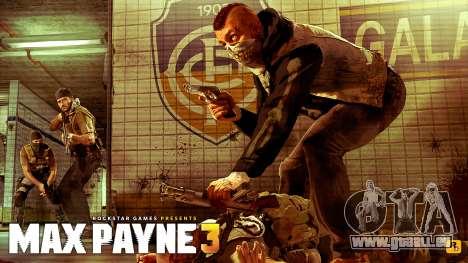 Les écrans de démarrage Max Payne 3 HD pour GTA San Andreas deuxième écran