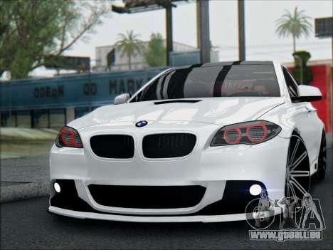 BMW 550 F10 VOSSEN pour GTA San Andreas vue de droite