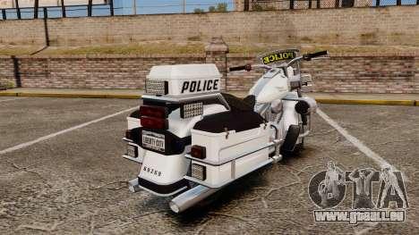 GTA V Western Motorcycle Police Bike für GTA 4 rechte Ansicht