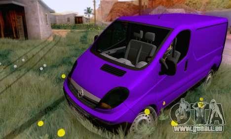 Opel Vivaro pour GTA San Andreas laissé vue