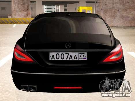 Mercedes-Benz CLS350 2012 pour GTA San Andreas vue intérieure