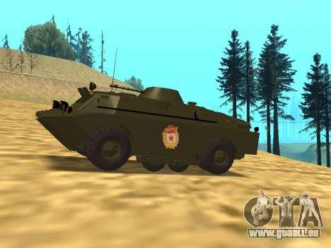 Gardes BRDM-2 pour GTA San Andreas laissé vue