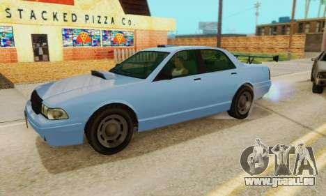 Insipide Stanier II 1.0 [без FIV] pour GTA San Andreas sur la vue arrière gauche