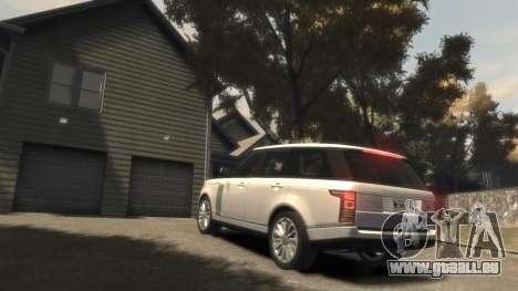 Range Rover Vogue 2014 pour GTA 4 vue de dessus