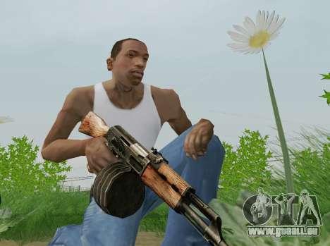 Kalaschnikow Light Machine Gun für GTA San Andreas fünften Screenshot
