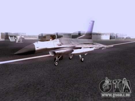 F-16 A pour GTA San Andreas vue de droite