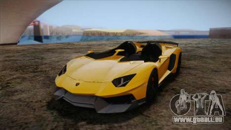 Lamborghini Aventandor J 2010 pour GTA San Andreas vue intérieure