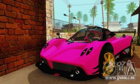 Pagani Zonda Type R Pink für GTA San Andreas rechten Ansicht