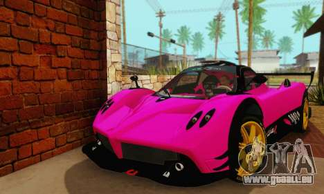 Pagani Zonda Type R Pink pour GTA San Andreas vue de droite