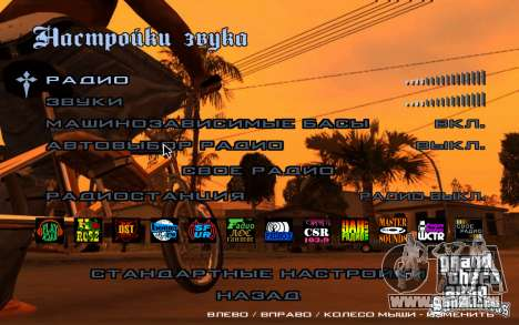 HD-Menüs für GTA San Andreas her Screenshot