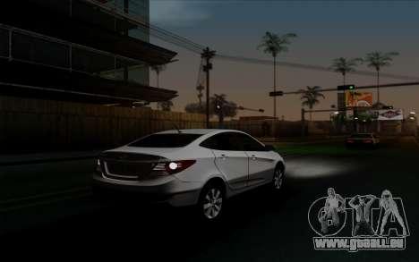 Hyundai Solaris für GTA San Andreas Innenansicht