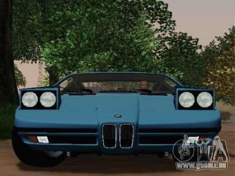 BMW M1 Turbo 1972 pour GTA San Andreas vue de droite