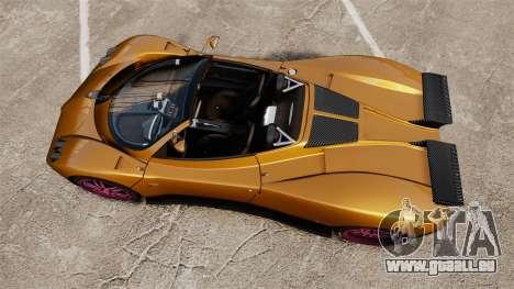 Pagani Zonda C12 S Roadster 2001 PJ2 für GTA 4 rechte Ansicht