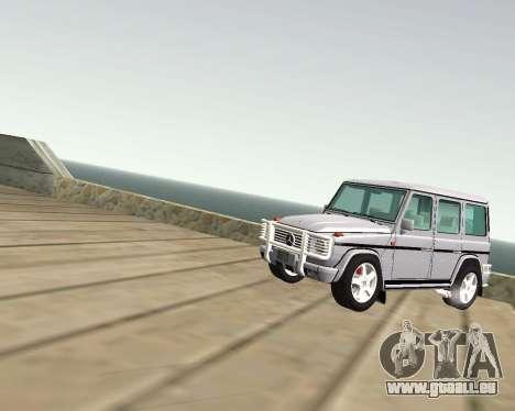 Mercedes-Benz G500 Brabus pour GTA San Andreas vue intérieure