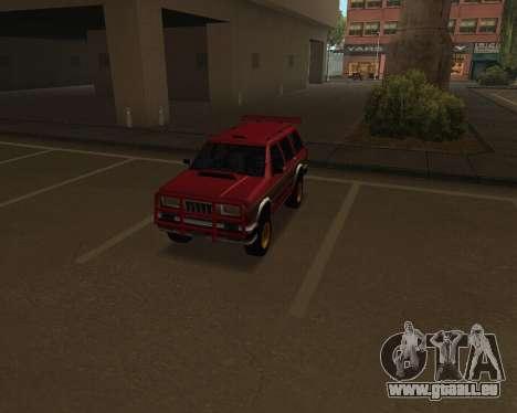 Landstalker V2 pour GTA San Andreas vue intérieure