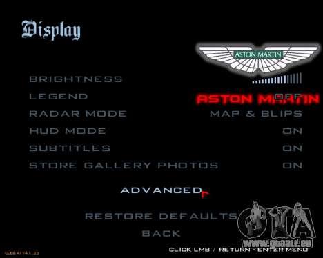 Nouveau menu d'image pour GTA San Andreas quatrième écran