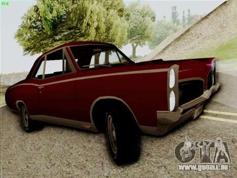 Pontiac GTO 1967 pour GTA San Andreas laissé vue