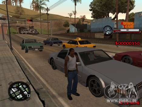 C-HUD Admins Team für GTA San Andreas zweiten Screenshot