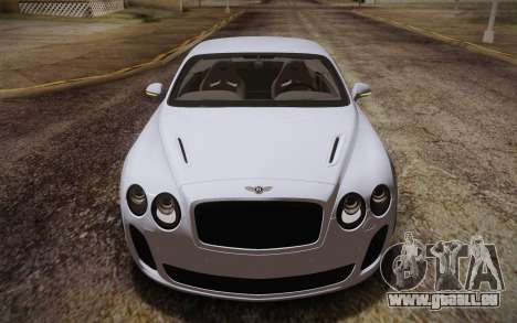 Bentley Continental SuperSports 2010 v2 Finale für GTA San Andreas Innenansicht