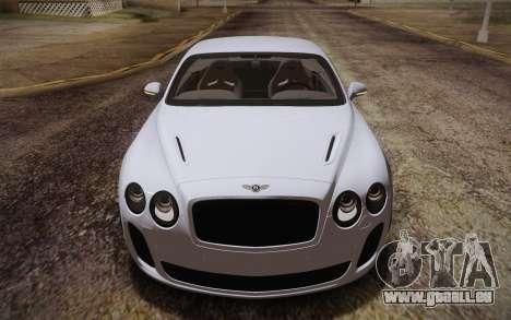 Bentley Continental SuperSports 2010 v2 Finale pour GTA San Andreas vue intérieure
