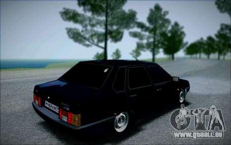 VAZ 21099 die Bandit für GTA San Andreas zurück linke Ansicht