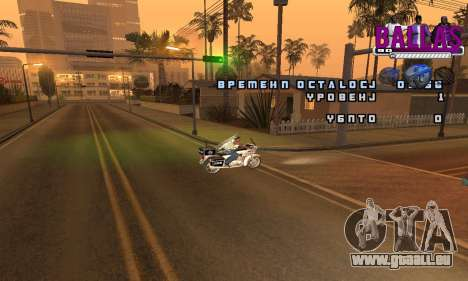 C-HUD Ballas für GTA San Andreas zweiten Screenshot