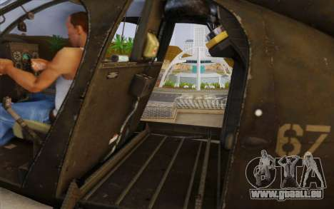 MH-6 Little Bird für GTA San Andreas zurück linke Ansicht