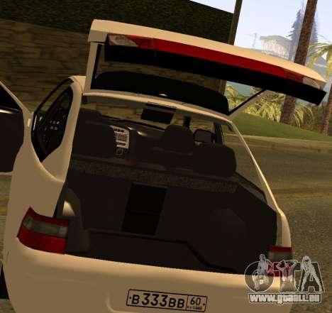 ВАЗ 2112 GVR Version 1.1 pour GTA San Andreas vue arrière