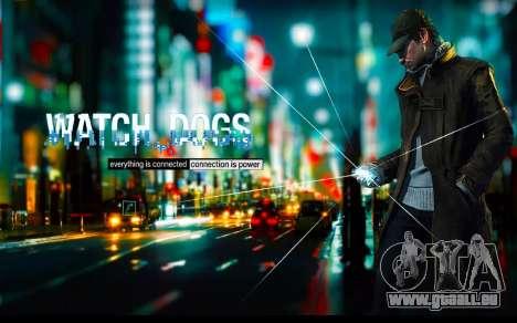 Les écrans de démarrage et de menus Watch Dogs pour GTA San Andreas