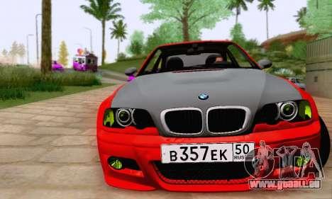 BMW M3 E46 für GTA San Andreas Innenansicht