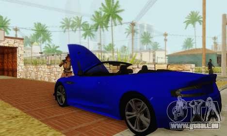 Aston Martin DBS Volante pour GTA San Andreas vue de côté