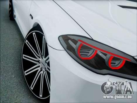 BMW 550 F10 VOSSEN pour GTA San Andreas vue arrière