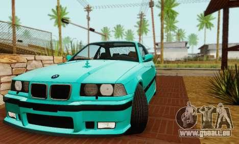 BMW E36 M3 1997 Stock für GTA San Andreas Rückansicht