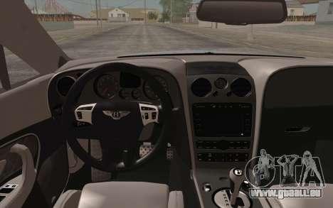 Bentley Continental SuperSports 2010 v2 Finale pour GTA San Andreas vue de droite