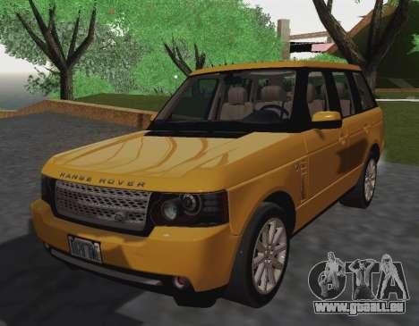 Range Rover Supercharged Series III für GTA San Andreas zurück linke Ansicht