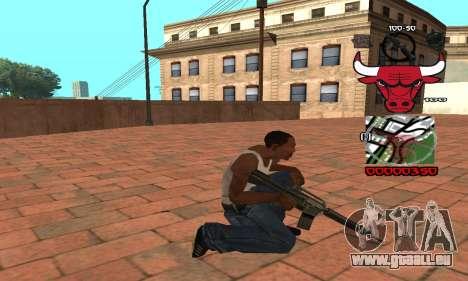 C-HUD Chicago Bulls pour GTA San Andreas troisième écran